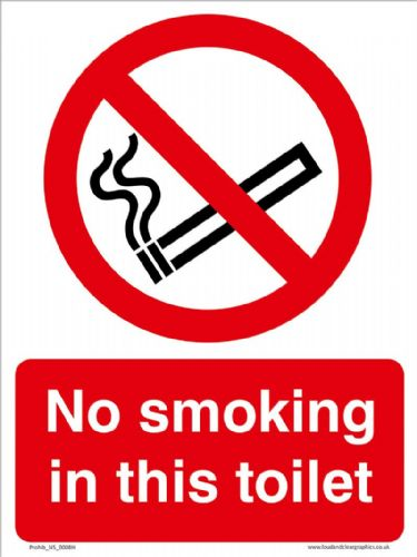 No smoking in this toilet